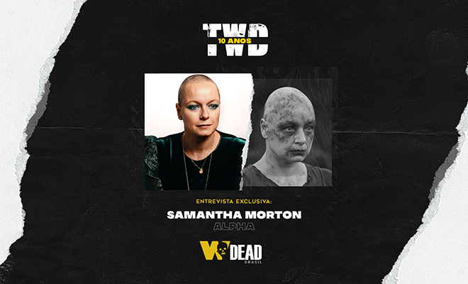 arte com Samantha Morton e Alpha para comemorar os 10 anos de The Walking Dead