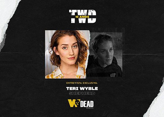 arte com Teri Wyble e Shepherd para comemorar os 10 anos de The Walking Dead