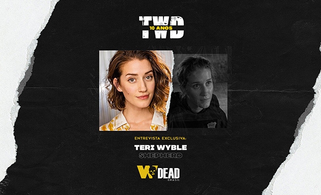 arte com Teri Wyble e Shepherd para comemorar os 10 anos de The Walking Dead