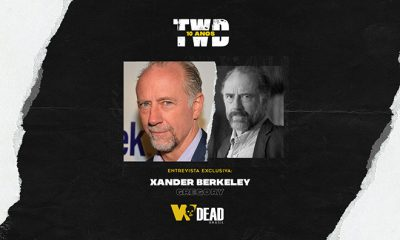 arte com Xander Berkeley e Gregory para comemorar os 10 anos de The Walking Dead