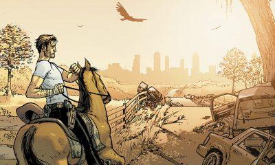 rick grimes montado em um cavalo em direção a Atlanta na capa da versão colorida da edição 2 da HQ de The Walking Dead