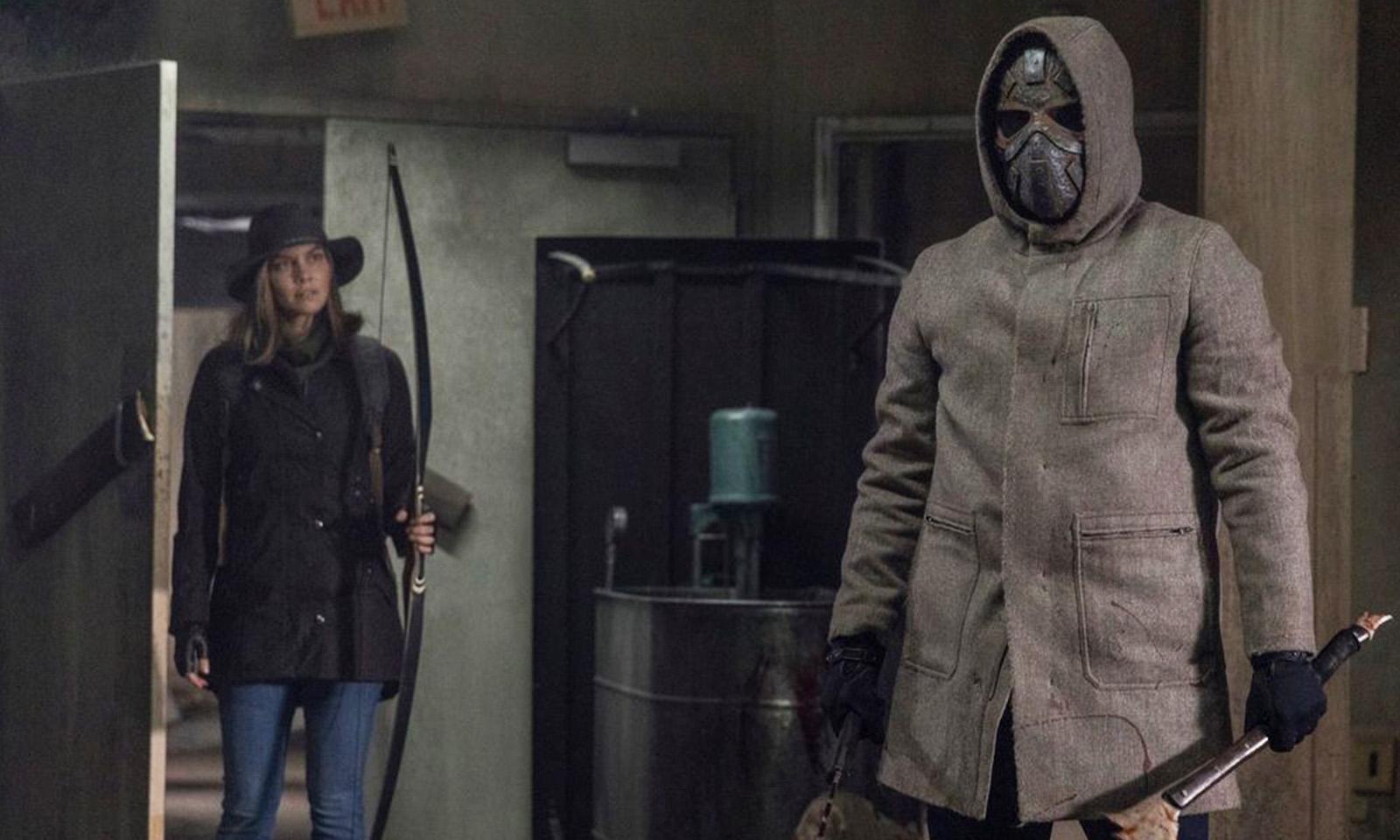 "Maggie e Elijah no final do episódio ""A Certain Doom"" de The Walking Dead"