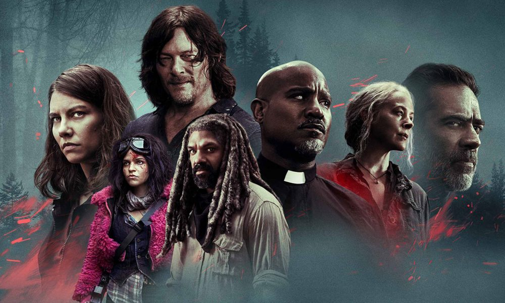 personagens reunidos no pôster da 10ª temporada de The Walking Dead - episódios extras