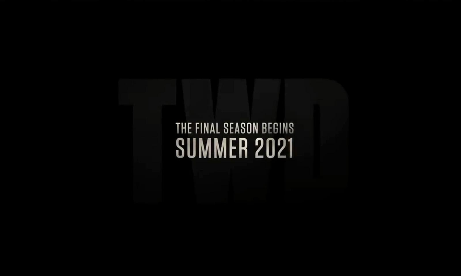 imagem com a previsão de estreia da 11ª temporada de The Walking Dead para o verão dos EUA