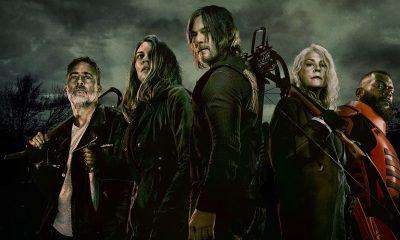 Negan, Maggie, Daryl, Carol e Mercer no pôster da 11ª e última temporada de The Walking Dead.