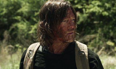 Daryl sujo de sangue de zumbi no episódio 4 da 11ª temporada de The Walking Dead.