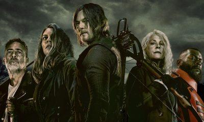 Negan, Maggie, Daryl, Carol e Mercer juntos e prontos pro combate no pôster oficial da 11ª temporada de The Walking Dead.